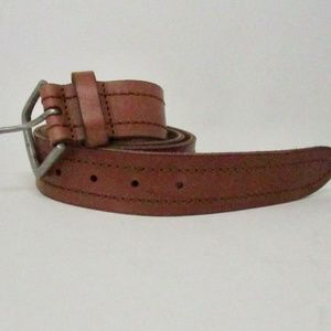 Lucky Brand Ford Logo Buckle Men/'s Western Leather Belt Brown NWT 32 36 34
